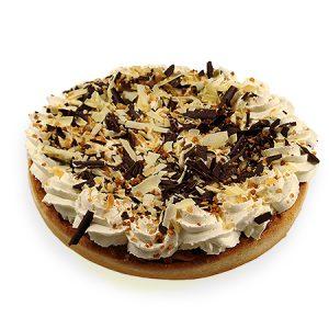 Appelvlaai speciaal (slagroom, krokant, witte en pure chocolade)