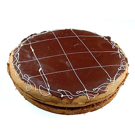 Chocolade-slagroomvlaai
