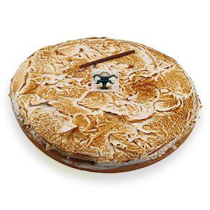 Abrikozenvlaai met rijstebavarois biscuit en merengeschuim (maestro)