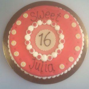 voorbeeld sweet sixteen taart 2