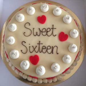 voorbeeld sweet sixteen taart 3