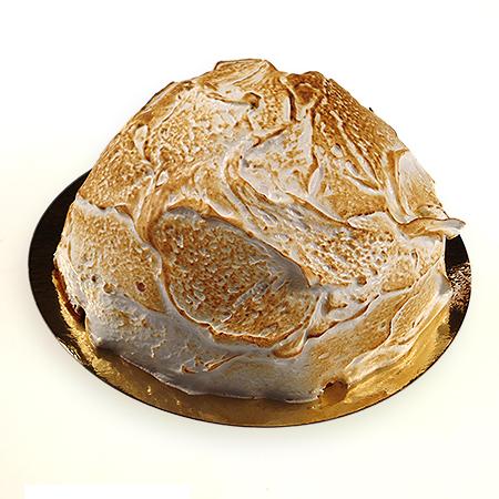 Yoghurt honingbol (yoghurtbavarois met honing, afgewerkt met merengue schuim)
